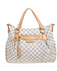 Louis Vuitton Damier Azur Canvas Evora Mm Bag - Multicolor