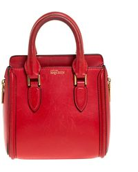 Alexander McQueen Red Leather Mini Heroine Bag