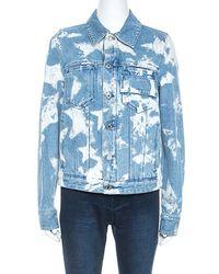 Givenchy Blue Bleached Stars Denim Jacket M