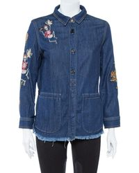 Zadig & Voltaire Zadig & Voltaire Blue Embroidered Denim Tackl Shirt