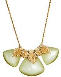 Alexis Bittar Lucite Crystal Gold Tone Necklace - Metallic