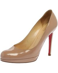 Christian Louboutin Beige Patent Leather New Simple Court Shoes - Natural