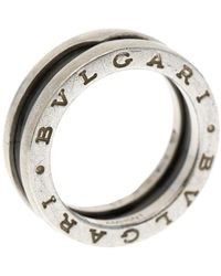 BVLGARI Save The Children 1-band Black Ceramic Silver Ring