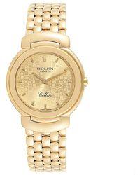 Rolex Gold 18k Yellow Gold Cellini 6622 Women's Wristwatch 33 Mm - Metallic