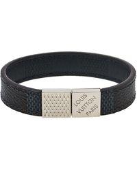 Louis Vuitton Damier Infini Leather Pull It Reversible Bracelet - Black