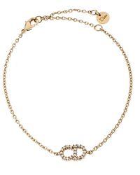 Dior Clair D Lune Crystal Gold Tone Bracelet - Metallic