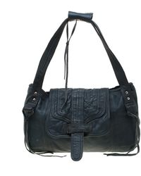 Zadig & Voltaire Zadig & Voltaire Blue Leather Baguette Hippy Lave Hobo