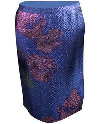 Dries Van Noten - Metallic Floral Print Skirt S - Lyst