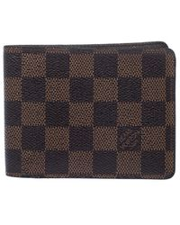 Louis Vuitton Damier Ebene Canvas Multiple Bifold Wallet - Brown