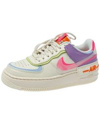 Nike Wmns Air Force 1 Shadow Pale Ivory/digital Pink Trainers - Metallic