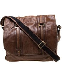 Givenchy Brown Signature Leather Messenger Bag