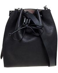JW Anderson J.w. Anderson Black Leather Drawstring Bucket Bag