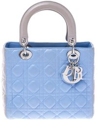 Dior Light Blue/grey Leather