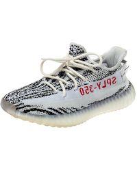 Yeezy Adidas 350 White/black Knit Fabric Boost V2 Zebra Trainers