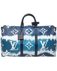 Louis Vuitton Monogram Escale Keepall Bandoulière 50 Bag - Blue