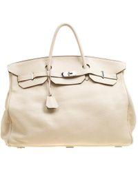 Hermès - Off Togo Leather Palladium Hardware Birkin 50 Bag - Lyst