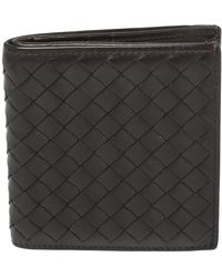Bottega Veneta Brown Intrecciato Leather Card Holder