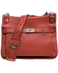 Hermès Cuivre Clemence Leather Palladium Hardware Jypsiere 34 Bag - Brown