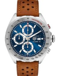 Tag Heuer Blue Stainless Steel Formula 1 Chronograph Caz2015 Wristwatch 44 Mm