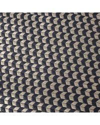 Givenchy Vintage Gray & Cream Jacquard Silk Tie