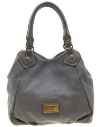 Marc By Marc Jacobs Grey Leather Classic Q Francesca Shoulder Bag