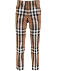 Burberry Brown House Check Tailored Pants