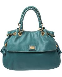 Dolce & Gabbana Green Leather Miss Charlotte Satchel