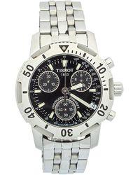 Tissot Black Stainless Steel Chronograph T-sport Prs200 Wristwatch