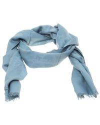 b3159ce3fcc Dior Blue Silk And Wool Issimo Patterned Fringed Edge Scarf