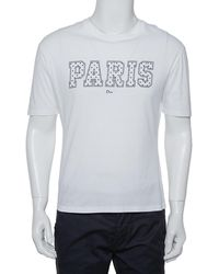 Dior Homme White Paris Printed Cotton Crewneck T-shirt