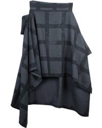 Vivienne Westwood Anglomania Gaia Plaid Wool Cape Coat S - Gray