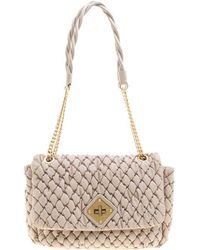 0c401c2eeceda Moschino Beige Quilted Nylon Flap Shoulder Bag