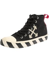 Off-White c/o Virgil Abloh Off White Black/white Canvas High-top Arrow Trainers