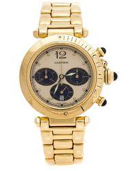 Cartier Auth Miss Pasha Watch Wj 124013 Quartz Silver K18pg (750) Pink Gold Used - Metallic