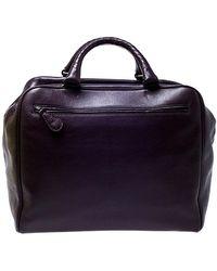 Bottega Veneta Purple Leather Madras Heritage Brera Duffle Bag