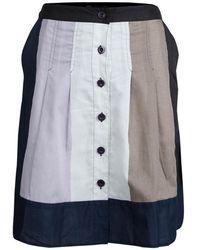 Marc By Marc Jacobs Colorblock Cotton Button Front Skirt - Multicolour