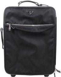 Prada Black Nylon Luggage Bag