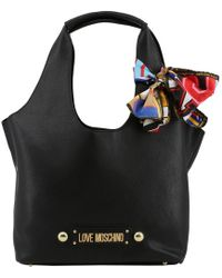8bcadd09998 Love Moschino I Love Scarf Flap Bag in Red - Lyst
