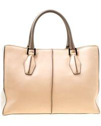 Tod's - Multicolor Leather Shopper Top Handle Bag - Lyst