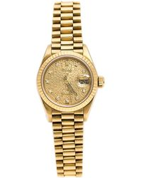 Rolex Lady-datejust Pearlmaster White Diamond Dial 18k Yellow Gold Automatic Ladies Watch wdpm - Metallic