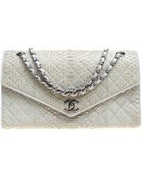 Chanel - Python Envelope Classic Flap Bag - Lyst