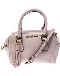 e7a9c4286426 MICHAEL Michael Kors - Blush Pink Leather Bedford Tassel Satchel - Lyst