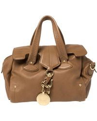 Bally Brown Leather Madrielle Satchel