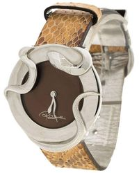 Roberto Cavalli Brown Stainless Steel Snake R7251165535 Women's Wristwatch 38mm