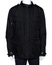 Ralph Lauren - Black Button Front Escape Jacket - Lyst