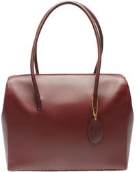 Cartier Red Leather Must Line Shoulder Bag
