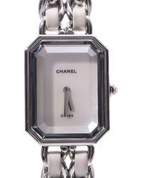 Chanel White Stainless Steel Premiere Quartz Wristwatch