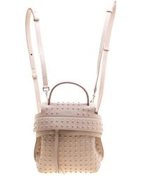 Tod's - Blush Leather Mini Wave Top Handle Backpack - Lyst