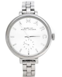 Marc By Marc Jacobs Silver Stainless Steel Sally Mbm3362 Women's Wristwatch 36.50 Mm - Metallic