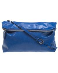 Burberry Patent Leather Large The Petal Clutch - Blue